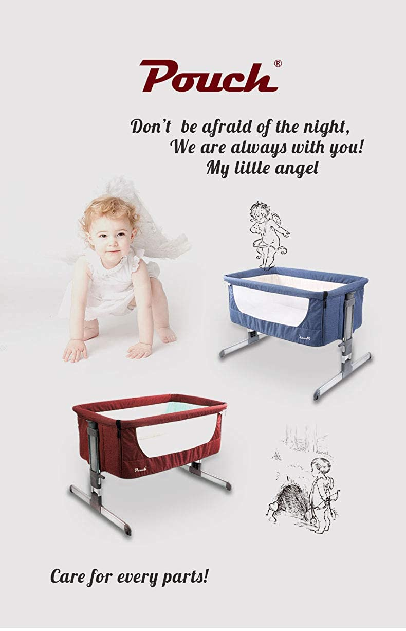 8e63867545 Amazon.com  Pouch H05 Baby Portable Bed Connected with Parents  Normal Big  Bed Infant Travel Sleeper Portable Cot Breathable Folding Crib  Clothing