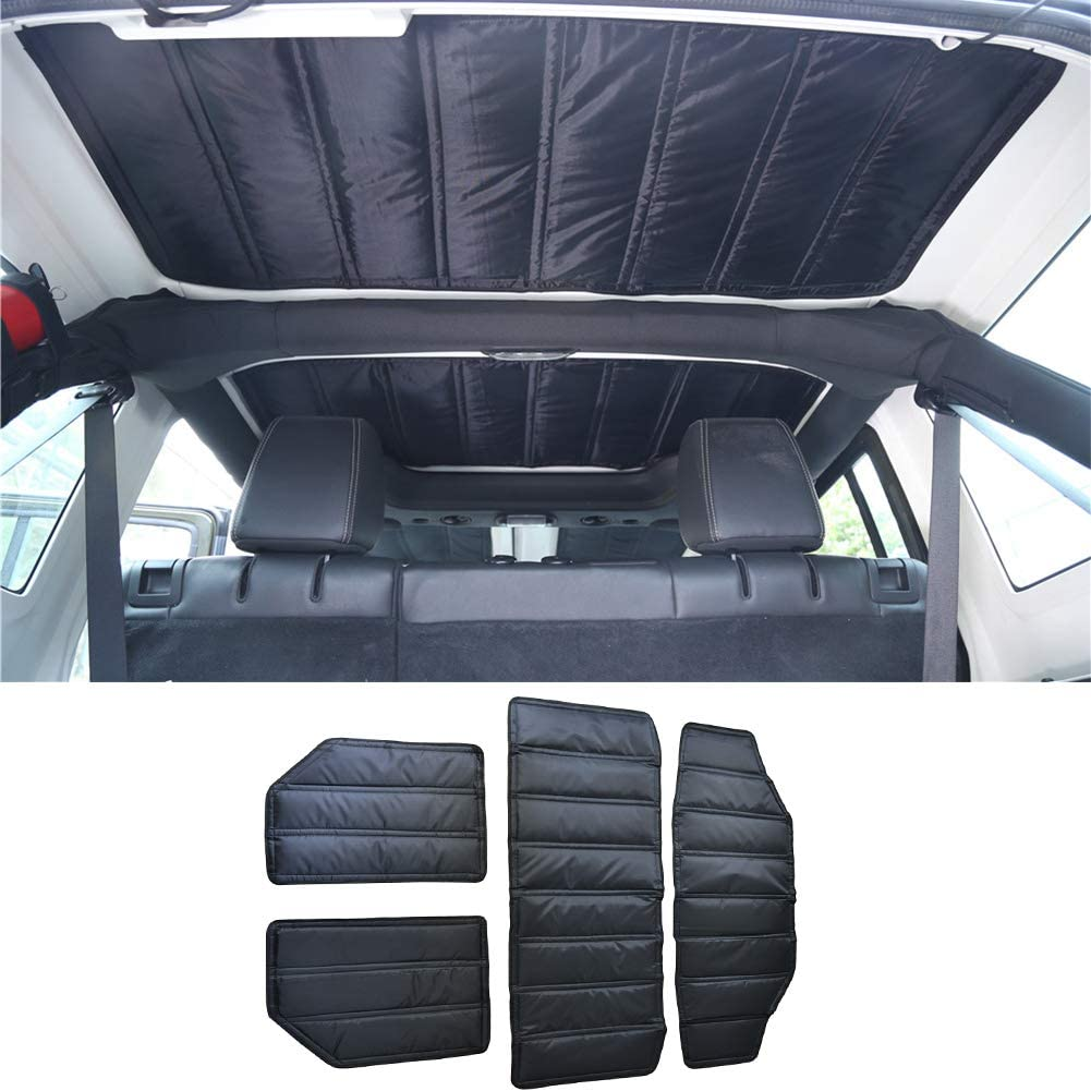 Car Hardtop Headliner Roof Heat Insulation Sound Deadener Cotton Kit,Jeep Roof Heat Insulation for Jeep Wrangler JK 2011-2017