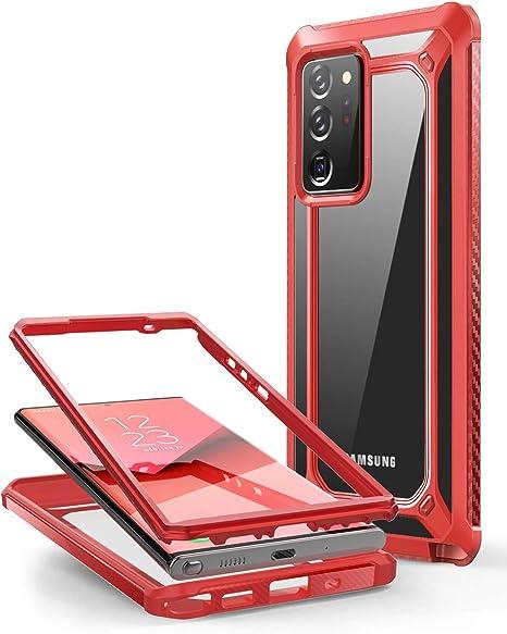 Supcase Durchsichtig Hülle Für Samsung Galaxy Note 20 Ultra 6 9 5g Handyhülle Bumper Case Transparent Schutzhülle Cover Unicorn Beetle Exo Ohne Displayschutz 2020 Ausgabe Rot Elektronik