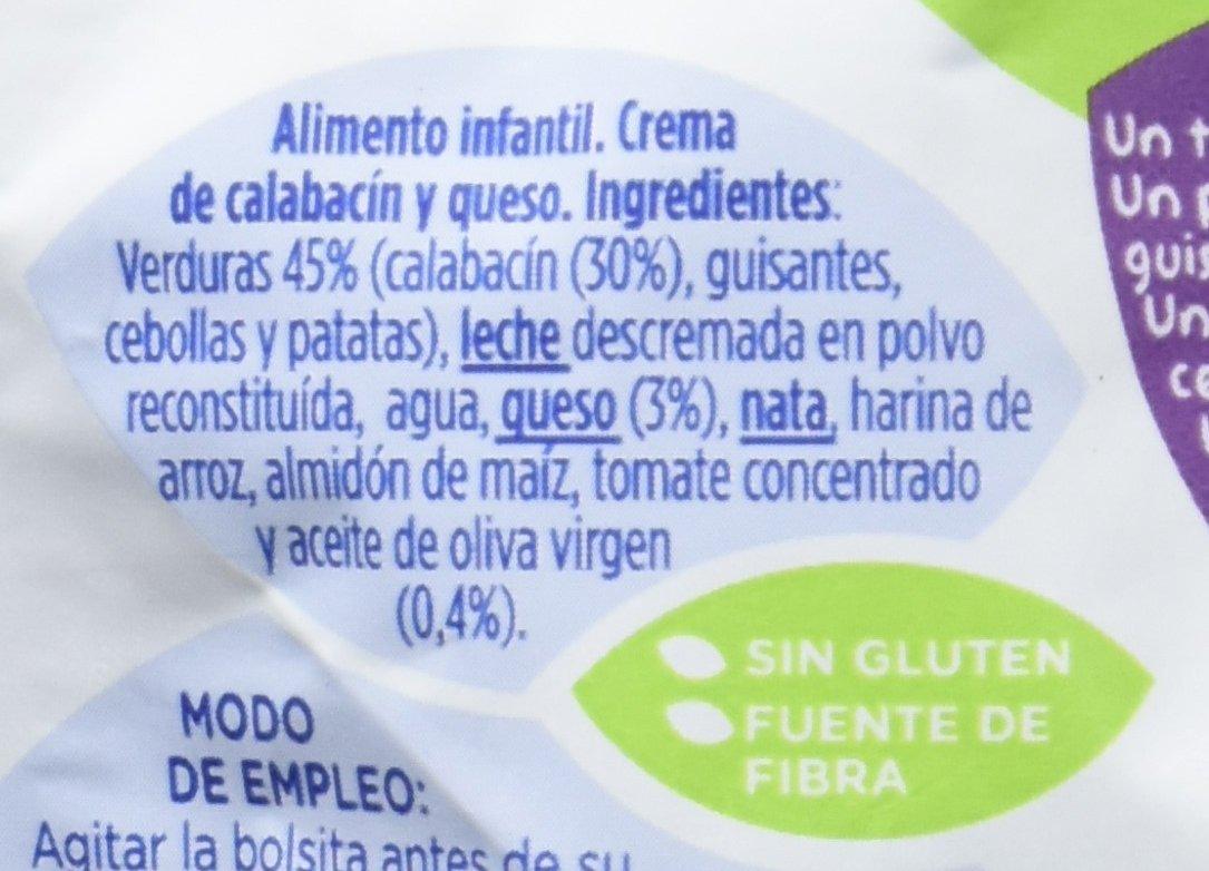 Hero Baby Bolsita Cocina Mediterránea Crema Calabacín Quesito - 18 Paquetes de 100 gr - Total: 1800 gr: Amazon.es: Alimentación y bebidas