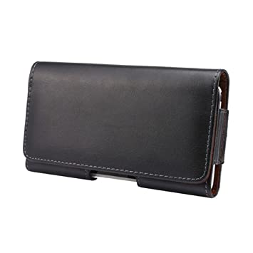 Ambaiyi Negro Funda de Cuero Piel Genuina Carcasa con Trabilla de Cinturón para Lumia 640 XL 950 XL , Huawei Honor 6X 5X 4X Nova Plus Ascend G7 G8 GX8 ...