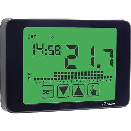 vemer Termostato Reloj ve454500 Chronos 230 Negro Fácil pantalla táctil de distancia, pantalla en breitem