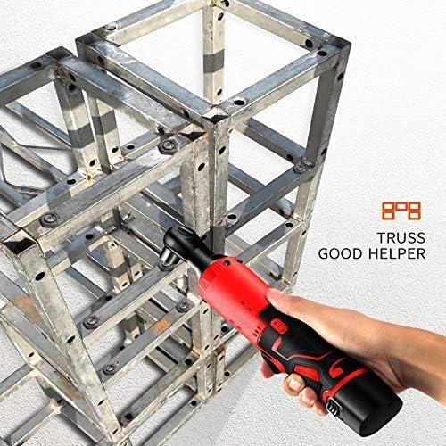 Sortie MxZas Clé électrique à cliquet 12V 4500mAh 60nm 3/8 Pouces à Angle Droit sans Fil avec Chargeur Rechargeable Outils électriques Set Jzx-n  R2MjA