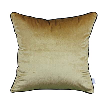 Amazon.com: Pillow Cushion Cover Suede Solid Color Bed Head ...