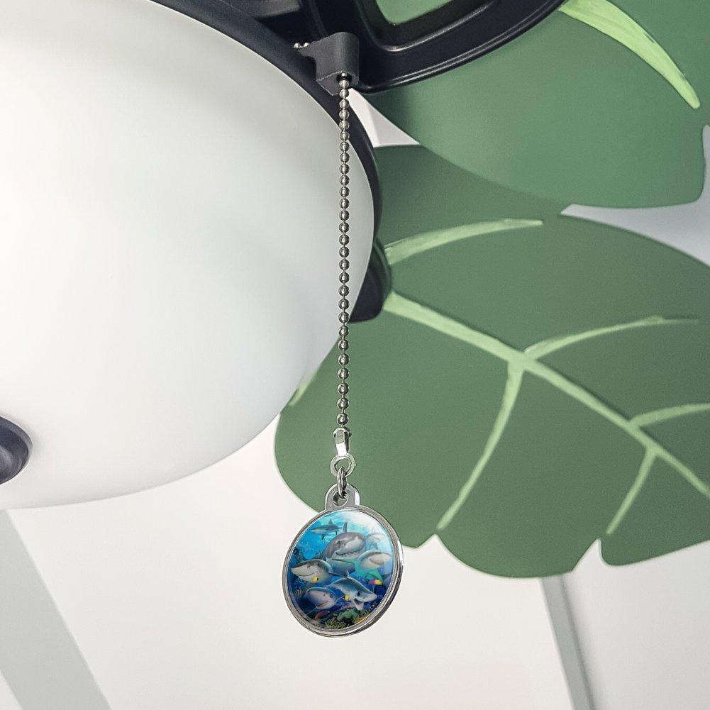 GRAPHICS /& MORE Shark Ocean Selfie Ceiling Fan and Light Pull Chain