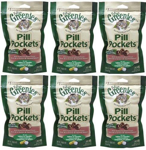 Greenies Salmon Cat Pill Pockets 9.6 oz (6×1.6 oz bags) Review