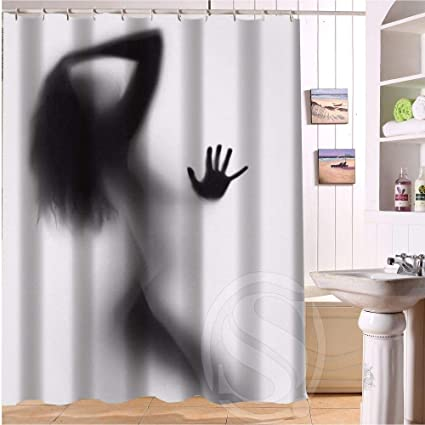 Shower Curtain Sexy Lady Silhouette Woman Home Textile European Style Bathroom Decoration
