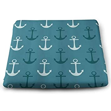 Amazon FANGT Nautical Pattern Navy Blue And Teal Shower New