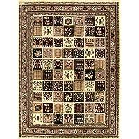 Rug Source Garden Design Traditional 10x14 Bakhtiari Persian Area Rug for Living Room (13 5 x 9 9)