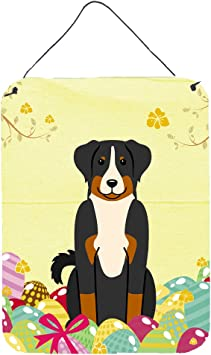 Amazon De Caroline S Treasures Ostern Eier Appenzeller Sennenhund Metall Print Multicolor 40 6 X