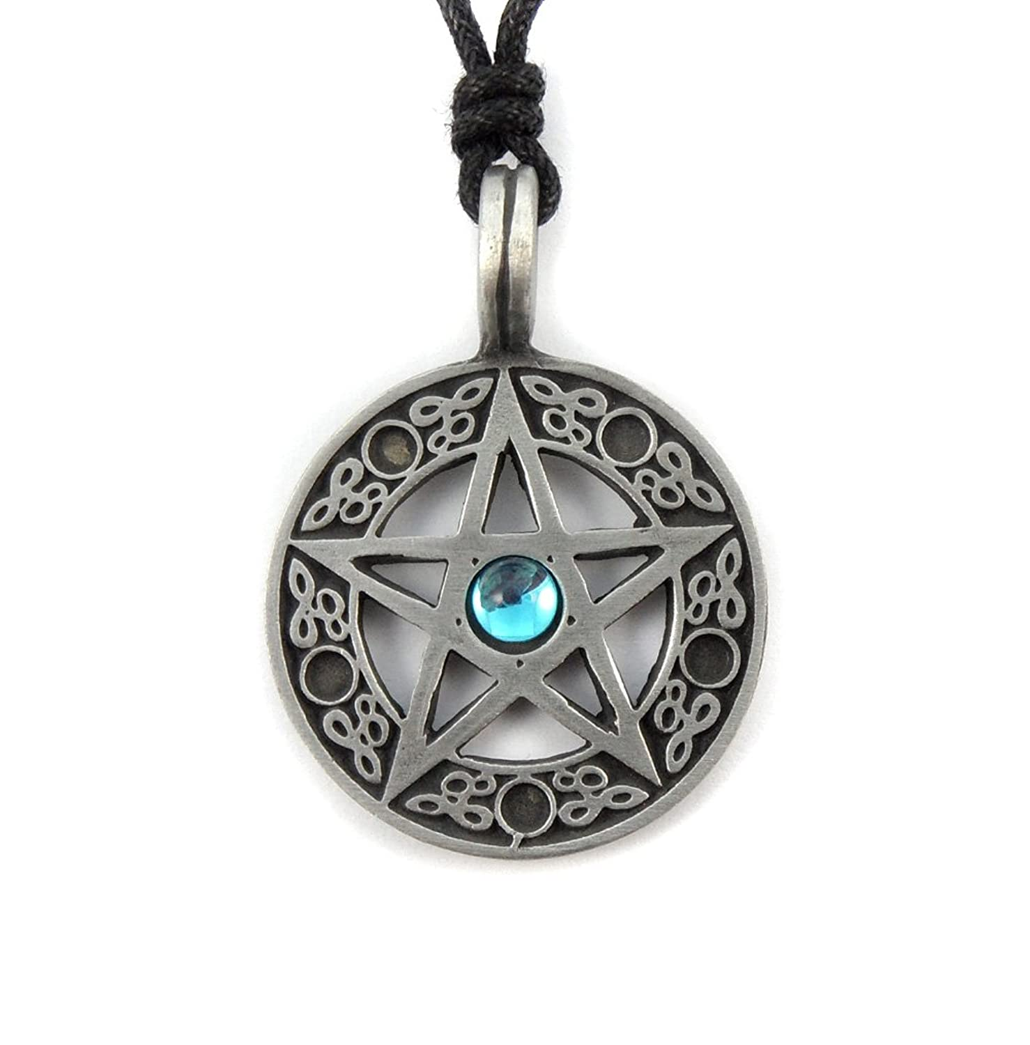 Pewter celtic pentagram pentacle pagan wiccan pendant necklace pewter celtic pentagram pentacle pagan wiccan pendant necklace amazon jewellery aloadofball Image collections