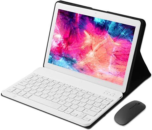 KISEDAR Tablet PC de 10 Pulgadas Android 9.0 4GB RAM /64GB/8000AH / Tarjeta SIM Dual/GPS/WiFi/Teclado Bluetooth/Mouse/Cubierta para Tablet PC, ...