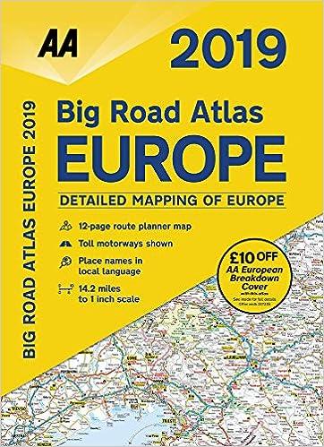 Big Road Atlas Europe 2019 SP (AA Road Atlas Europe) (Aa Atlases and ...