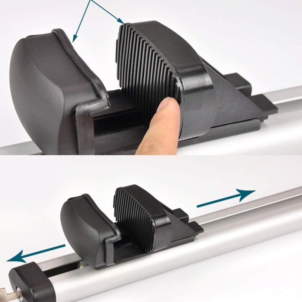 Installation Facile 2011 avec antivol Barres de Toit universelles pour Honda CR-V 2001 Largeur r/églable en Aluminium verrouillables