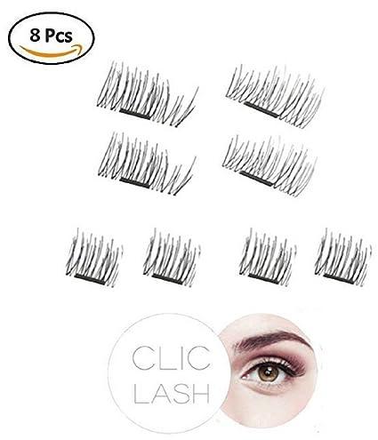 pestañas magnéticas CLIC LASH Original (Long Lashes) - 3d Artificial pestañas sin pegamento (