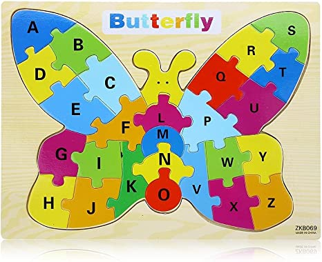 Puzzle Rompecabezas de Madera Juego Mesa Mariposa para Niños ...