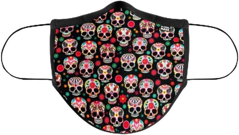 D Cool Mask Mascarilla Higienica Lavable y Reutilizable Fabricada en Portugal con Filtro Incorporado + 30 Lavados. Tejido Suave y Ajustable a Nariz y Boca. Talla Adulto Unisex. 1 Unidad