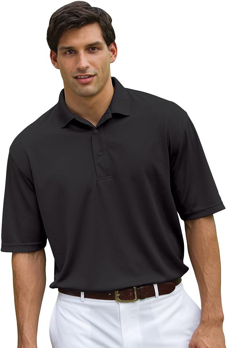 Whispering Pines Sportwear Men's Three Button Polo Shirt, BLACK ...