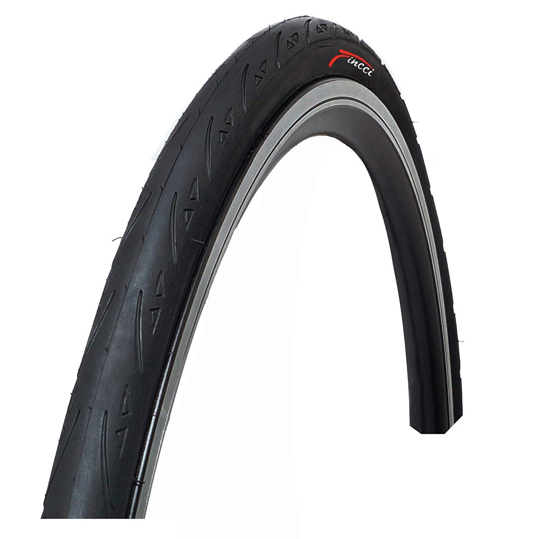 Fincci 700 x 25c 25-622 Plegable Cubierta para Ciclo Carrera Carretera Carreras Turismo Bici Bicicleta