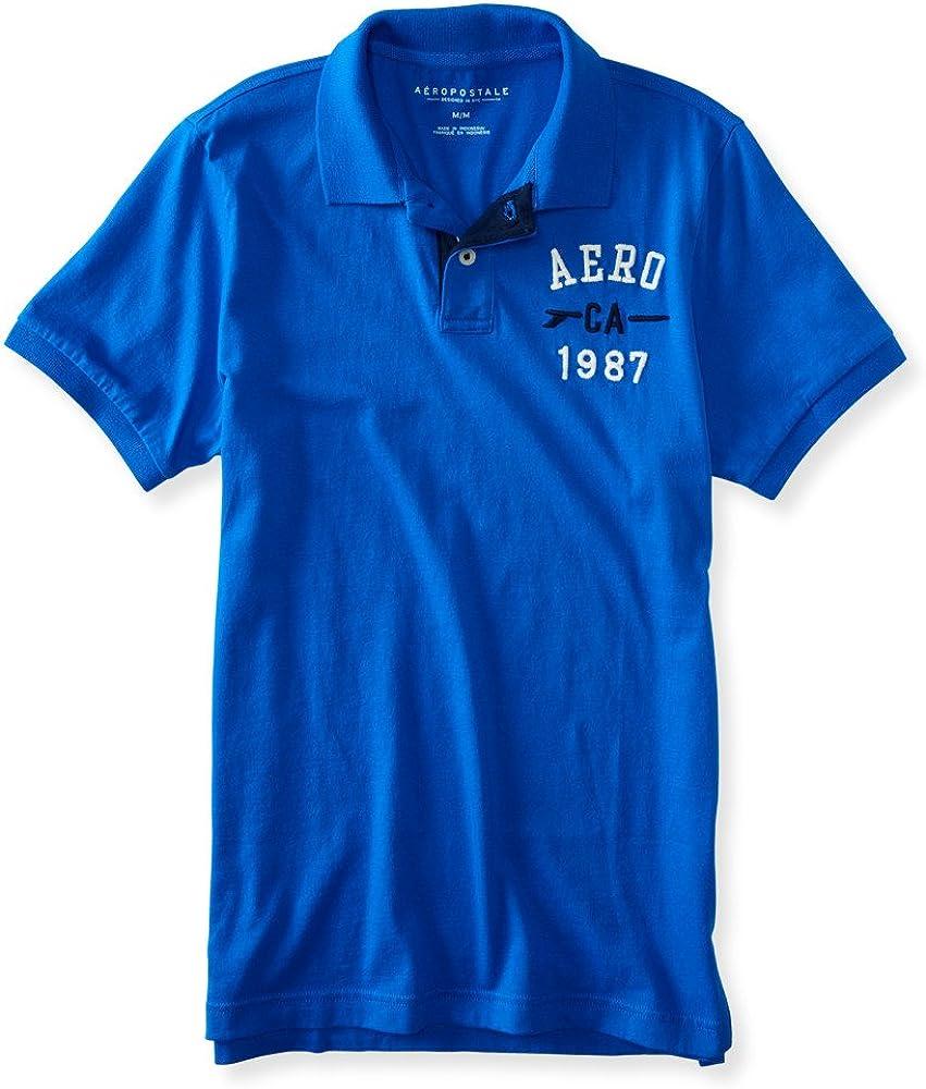 Aeropostale Aero ca Surf el logotipo del hombre Jersey Polo ...