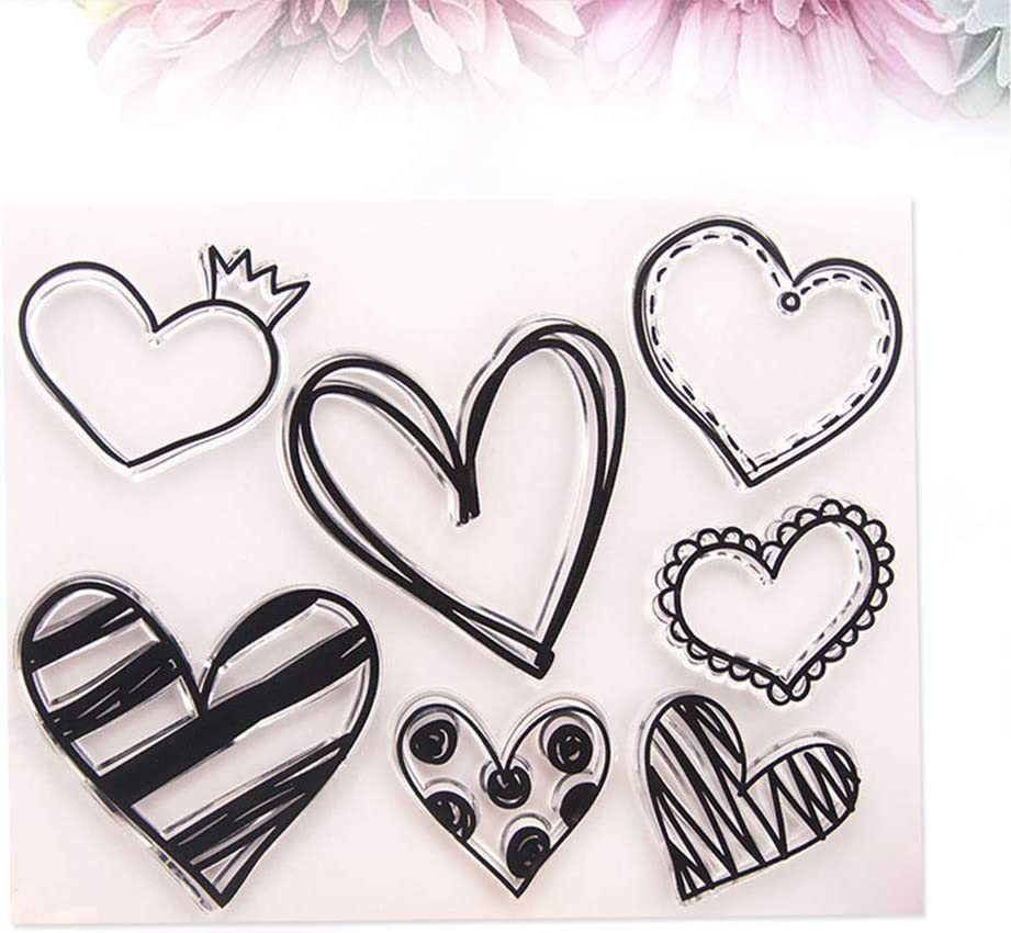 Healifty Clear Stamps Silicone Stamps Decorative Gift Tags Stamps for Card Making DIY Scrapbooking Photo Album Diary Decoration