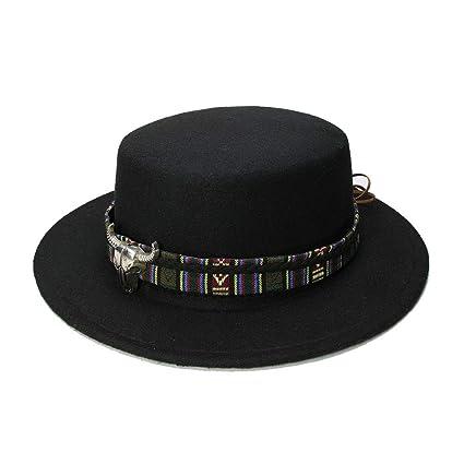 Man Y Retro Vintage 100% Wool Wide Brim Cap Pork Pie Porkpie Bowler Hat Cow  Head 138deb0eb0f