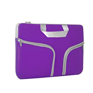 Chromebook Case, HESTECH 11.6-12.3 Inch Neoprene Laptop Sleeve Travel Bag with Handle Compatible for Acer Chromebook r11/HP Stream/Samsung Chromebook/MacBook air 11/, Royal Purple
