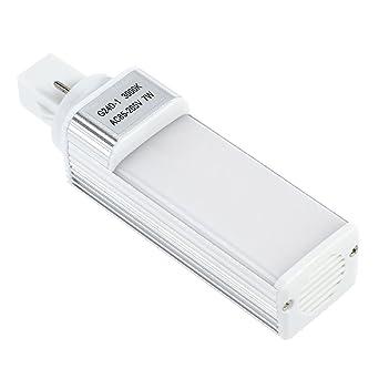 UEETEK LED Lámpara de Acuario 7W G24 Bombilla de Ahorro de Energía para Caja de Pescado