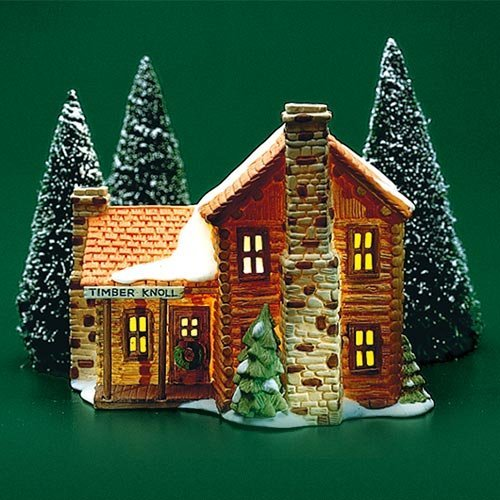 Department 56 Timber Knoll Log Cabin (Log Cabin Timber)