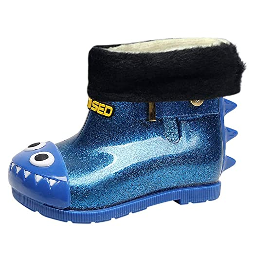 6a548075bff53 Children Kids Baby Cartoon Dinosaur Rain Boots Shoes,Outsta Infant  Waterproof Shark Rubber Boots