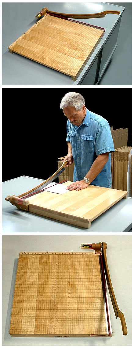 Ingento Classic Solid Maple Base 18 inch Paper Cutter by Ingento