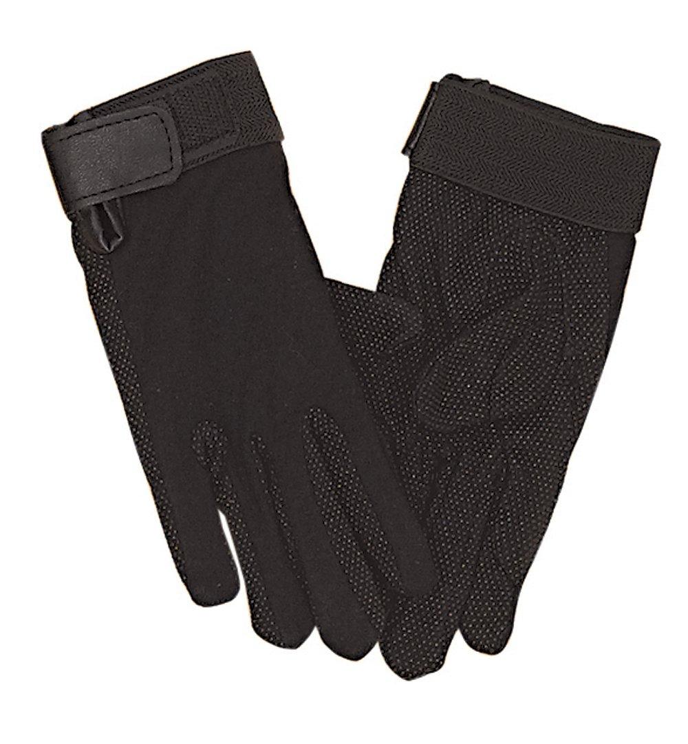 Perri's Adult Cotton Gloves, Black