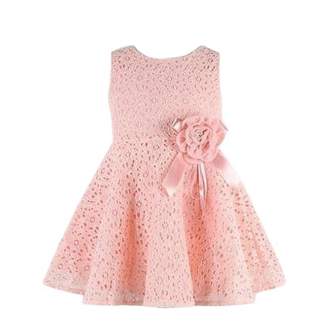... alt) Blumenspitze Party Kleid A-linie Prinzessin Maedchen Kleid  Partykleid Spitzenkleid Ärmellos Crewneck Sommerkleid Minikleid  Amazon.de   Bekleidung 51c91b4a3b