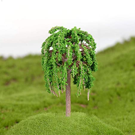 Romote Direct Planta De Paisaje En Miniatura Modelo De árboles De Jardín De Hadas Sauce Que Llora Modelo del Tren del Paisaje DIY del Ornamento del Jardín: Amazon.es: Hogar