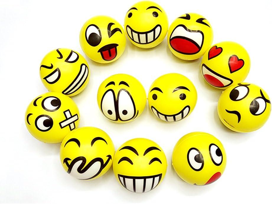 Runfon Balle Anti-Stress Emoji Boules de Stress Visage Jouet Balle de d/écompression Emoji pour Adulte et Enfant