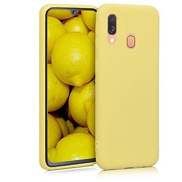 kwmobile Funda para Samsung Galaxy A40 - Carcasa para móvil en TPU Silicona - Protector Trasero en Amarillo Mate