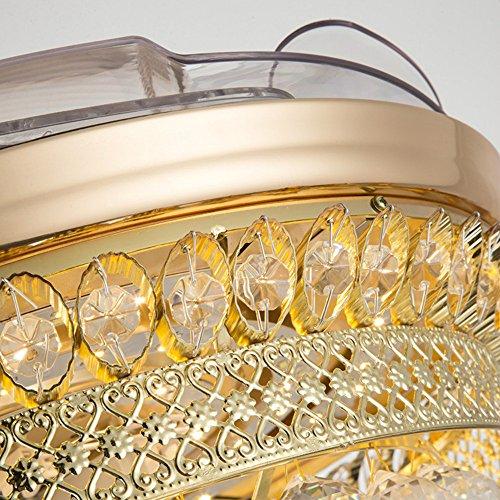 From RS Lighting 42 in Modern Luxury Crystal Fan Lights Mute Living Room Bedroom Led Energy Saving Fan Chandelier Stealth Ceiling Fan Lights by RS Lighting (Image #2)