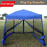Cheap 8'x8'/10'x10′ Pop up Canopy Party Tent Gazebo Ez with Net (Blue)