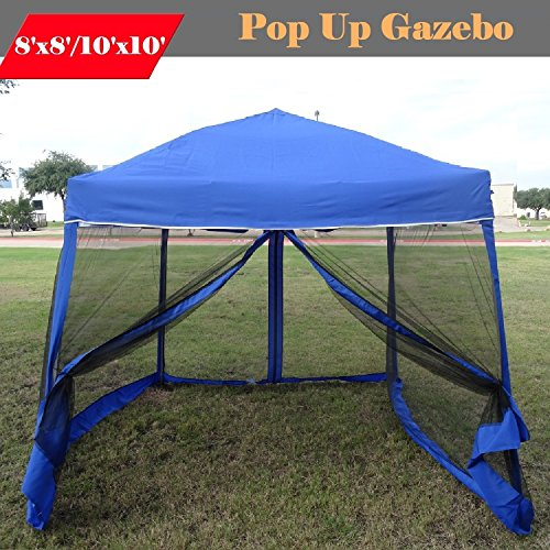 Cheap  8'x8'/10'x10' Pop up Canopy Party Tent Gazebo Ez with Net (Blue)