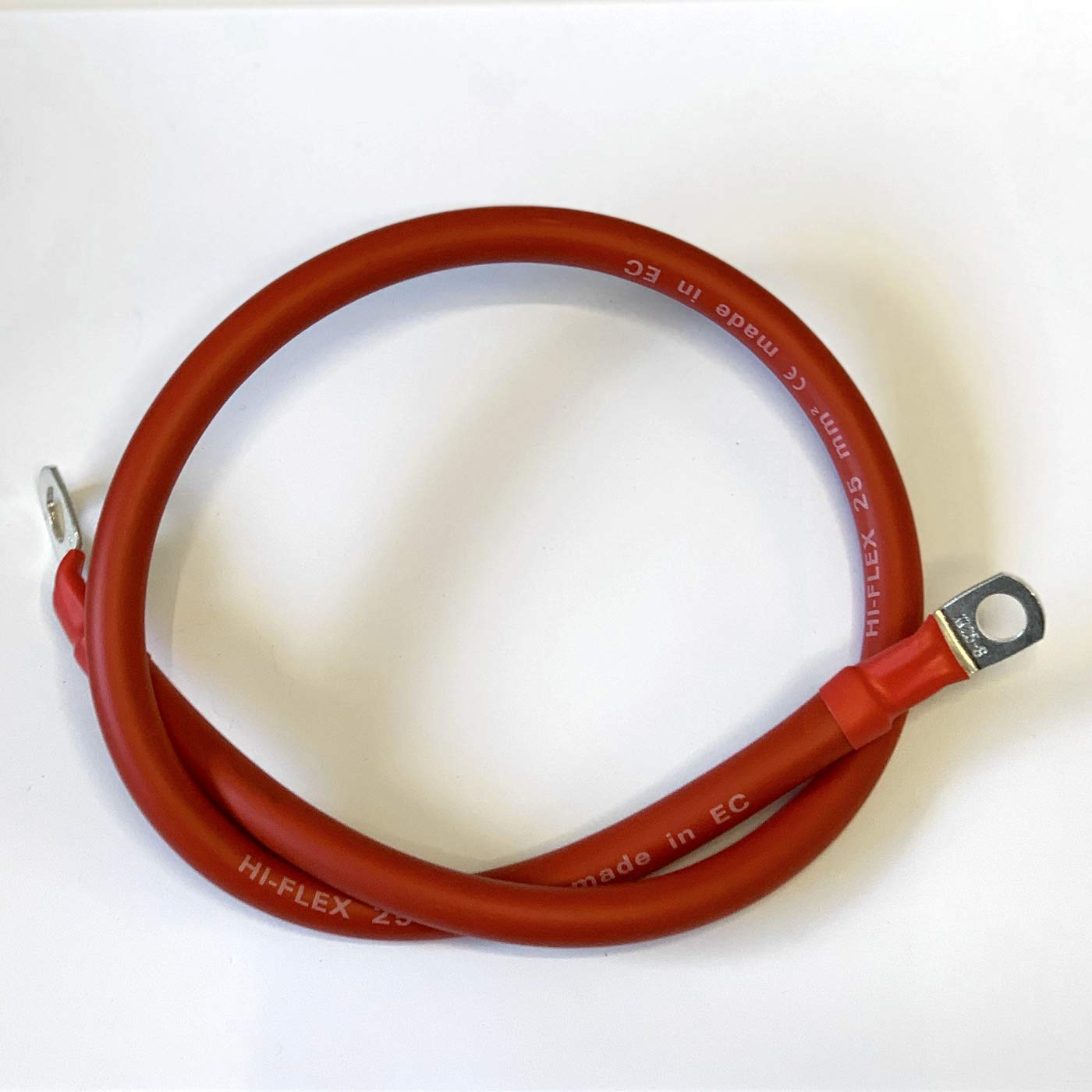 35mm/² Red, 300mm 30cm Battery Lead Power Strap Earth Bond Red//Black Leisure Cable Leads with Eyelets to Link Battery Bank by BMF DIRECT/® - 1ft
