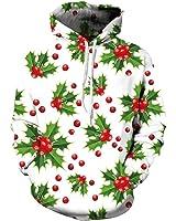 Christmas Hoodies Sweatshirt MenS Floral Print 3D Pullovers Unisex Hip Hop Tracksuit Casual Tops