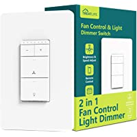 Treatlife Smart Ceiling Fan Control and Dimmer Light Switch