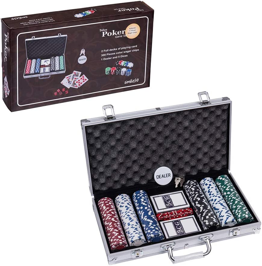 Poker case Casino Storage 300 Chips Box Container Aluminum Case