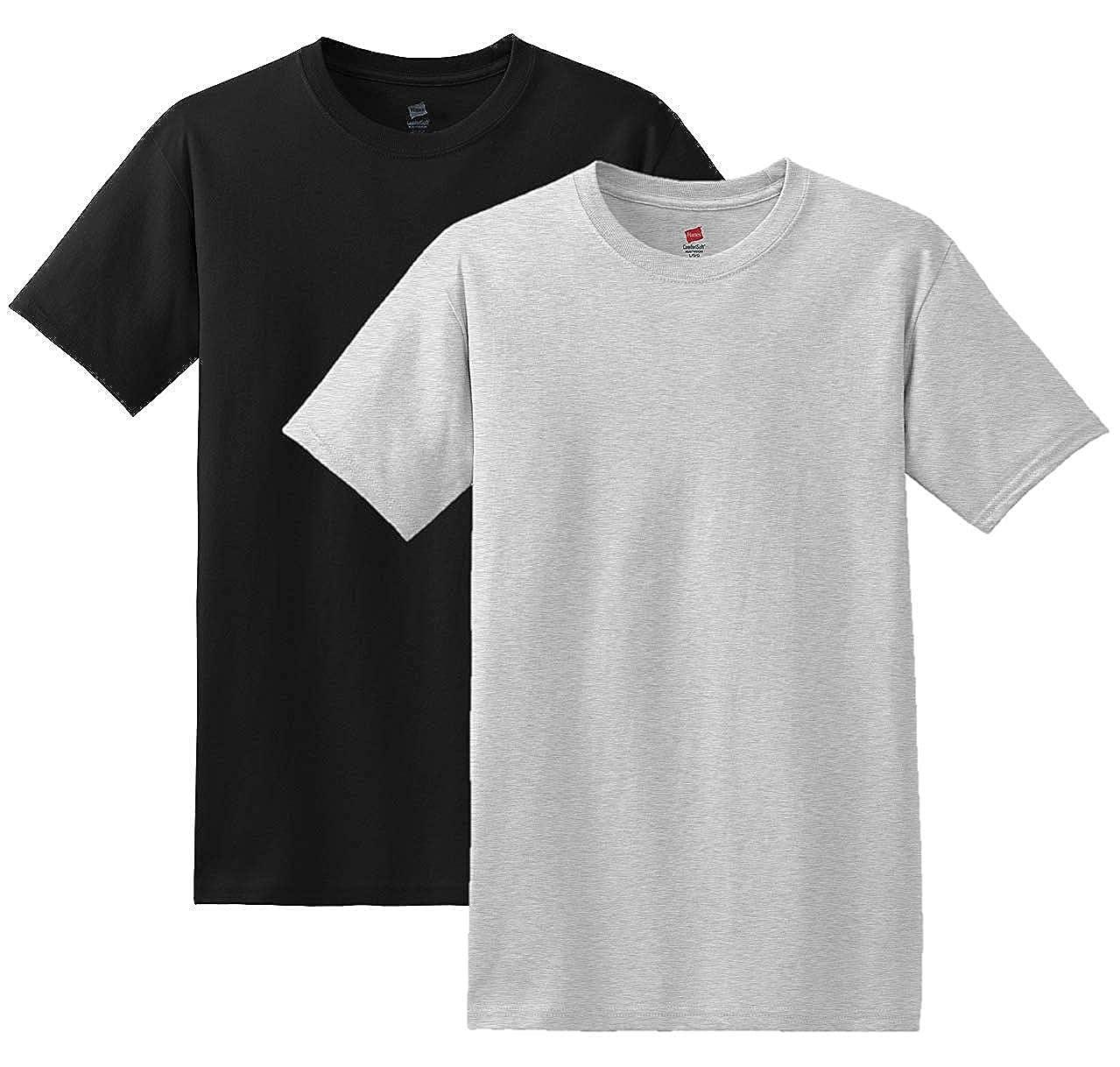 Hanes Mens 7 Pack Freshiq Comfortsoft Crewneck T-Shirt