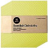 Swedish Dishcloth Cellulose Sponge Cloths - Bulk 10