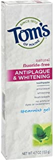 product image for Antiplaque and Whitening Toothpaste Spearmint Gel 4.70 Ounces (Case of 6)