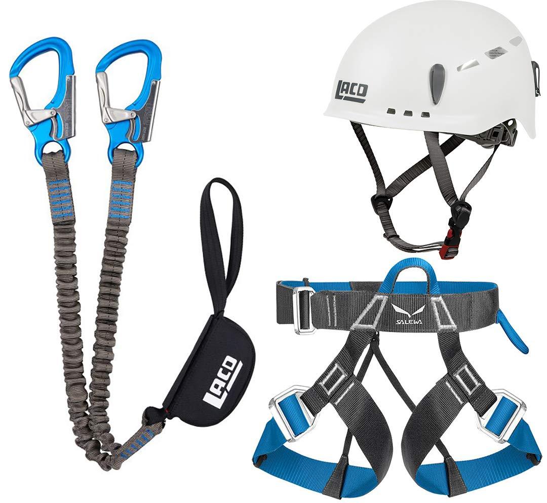 LACD Helm Protector Klettersteigset Salewa Premium Attac+Gurt Via Ferrata Evo