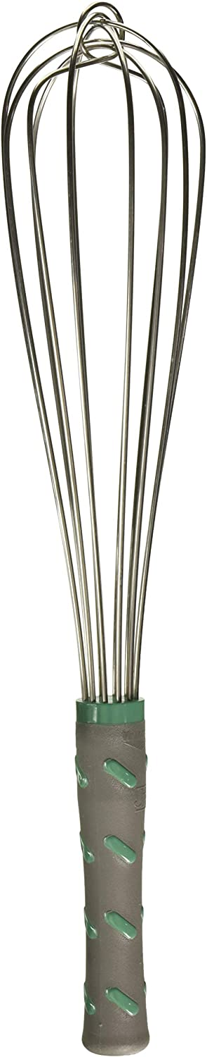 Vollrath 47093 Jacob's Pride 16-Inch French Whip Whisk with Nylon Handle, Stainless Steel, NSF, Silver