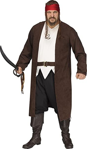Amazon Com Fun World Men S Plus Size Ahoy Matey Pirate Adult
