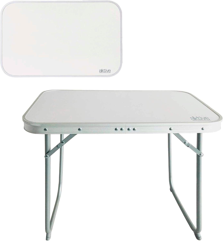 Aktive 52870 - Mesa plegable de aluminio para camping Camping 60 x 40 x 50 cm